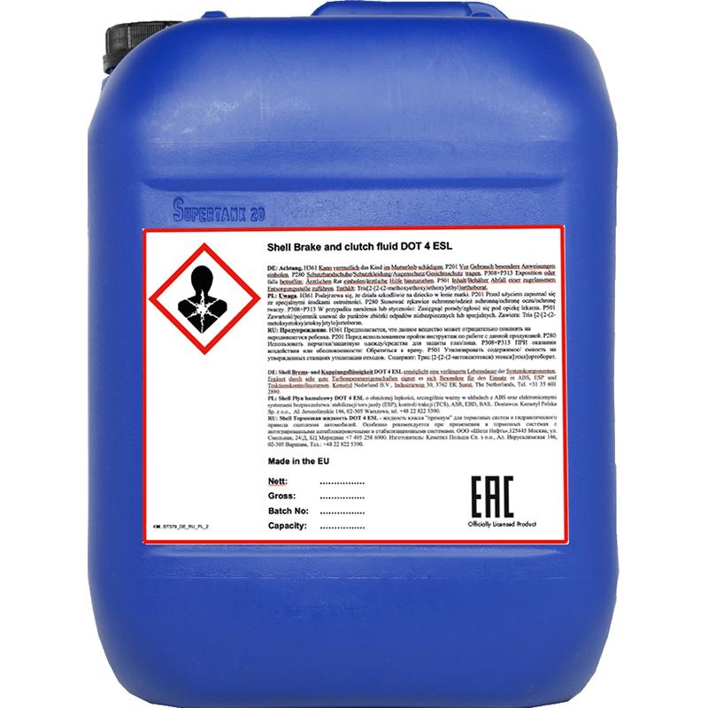 Płyn hamulcowy DOT 4 ESL Shell – 20L