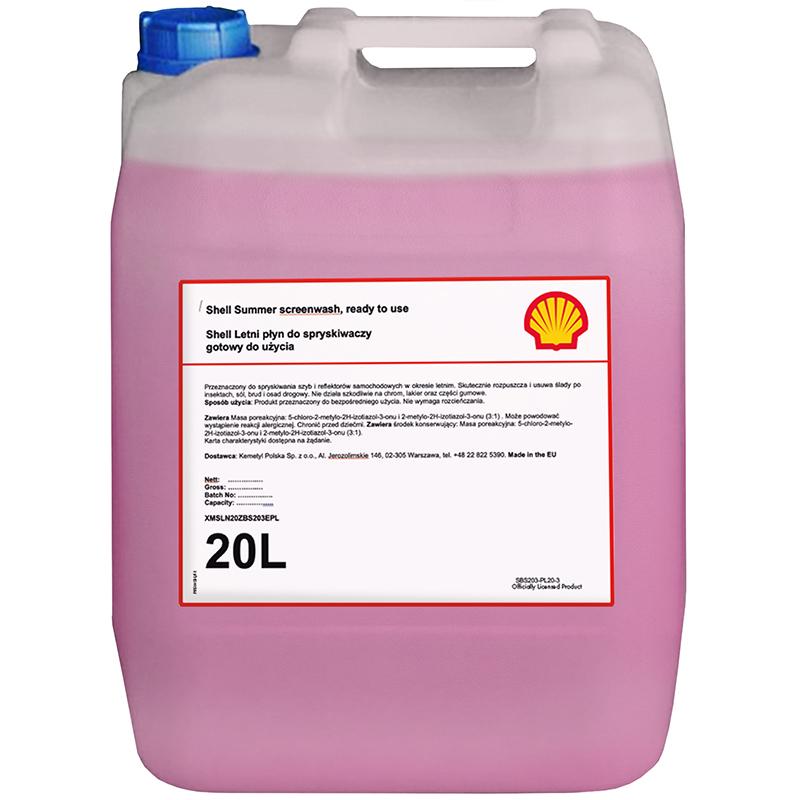 Letni płyn dospryskiwaczy Shell – 20L