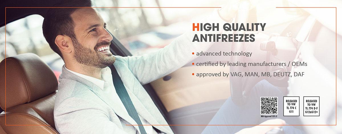 The highest quality antifreezes